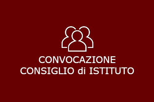 Convocazione Consiglio di Istituto 27 Novembre 2019