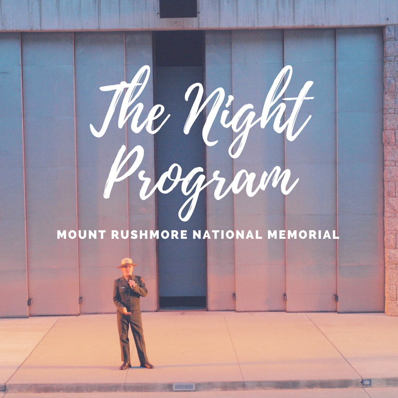 The Night Program at Mount Rushmore