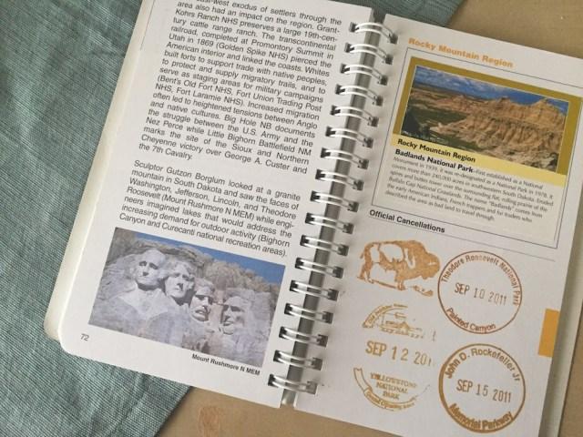 NPS Passport Book - Inside