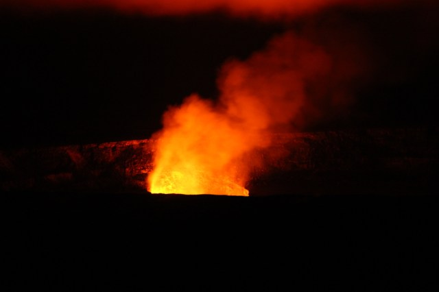 Kilauea Volcano Overlook - Hawaii Volcanoes National Park