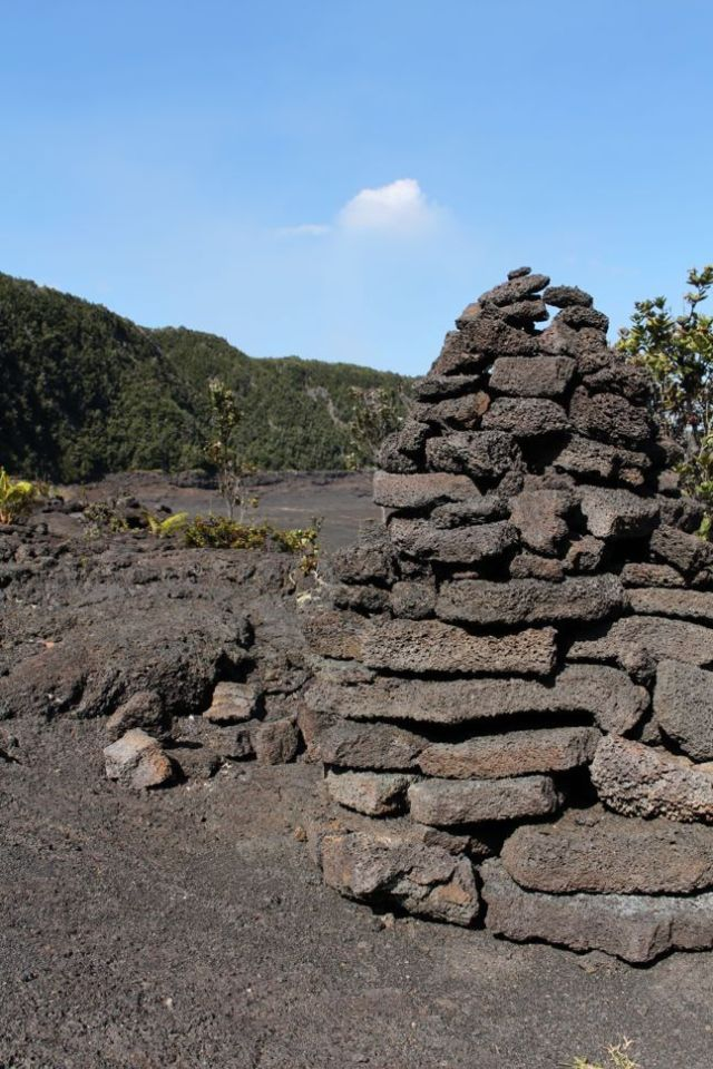 Ahu (Stacked Rocks)- Kilauea Iki Crater Hike