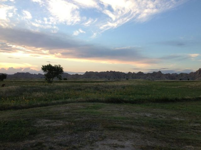 Badlands Early Sunset