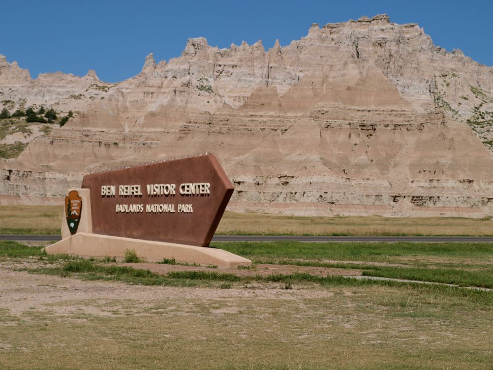 Badlands Visitor Center Sign