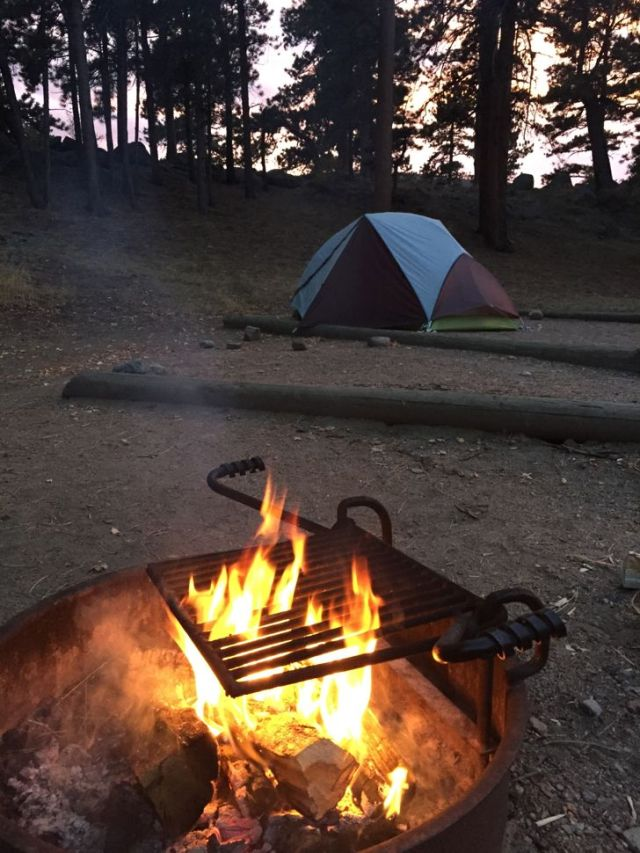 Campfire, Rocky Mountain National Park