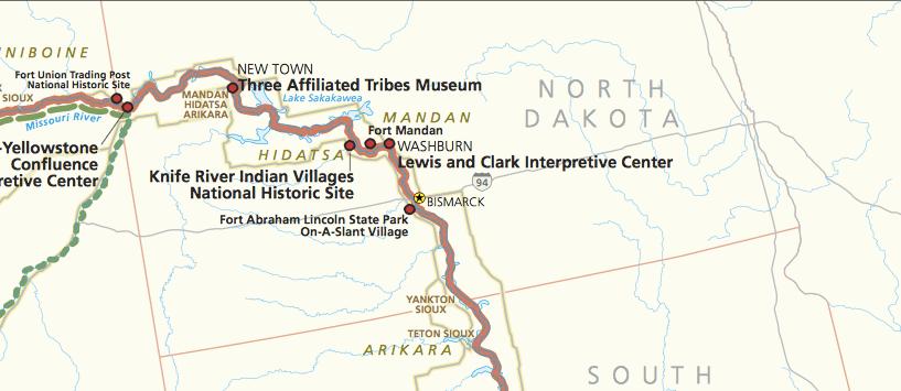 Visit All The National Park Service Sites In North Dakota Park - North dakota rivers map