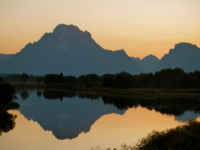 Sunset near the Jackson Lake Lodge - Grand Teton National Park