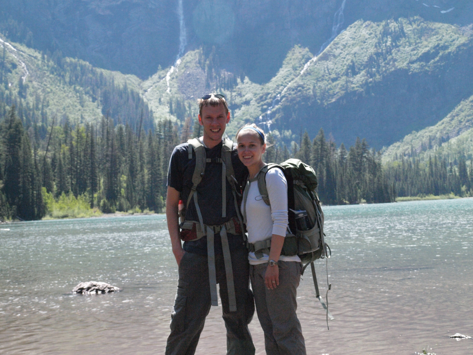 The Park Chasers at Avalanche Lake in 2010