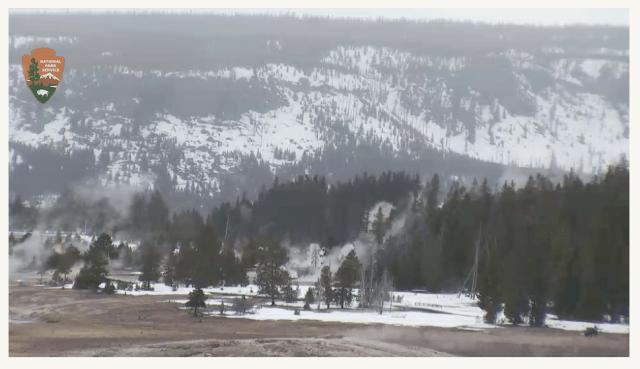 Old Faithful Geyser Basin Webcam