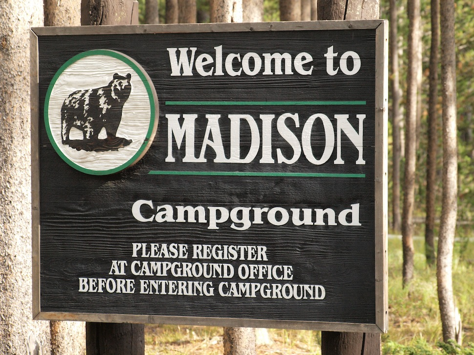 Camping in Yellowstone National Park:  The Madison Campground