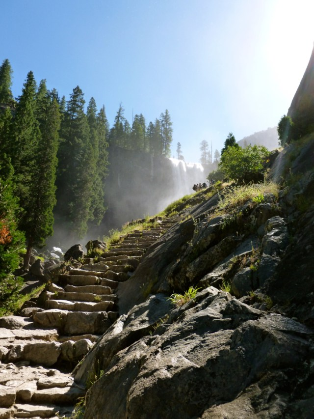 Climbing the Mist Trail to Vernal Falls