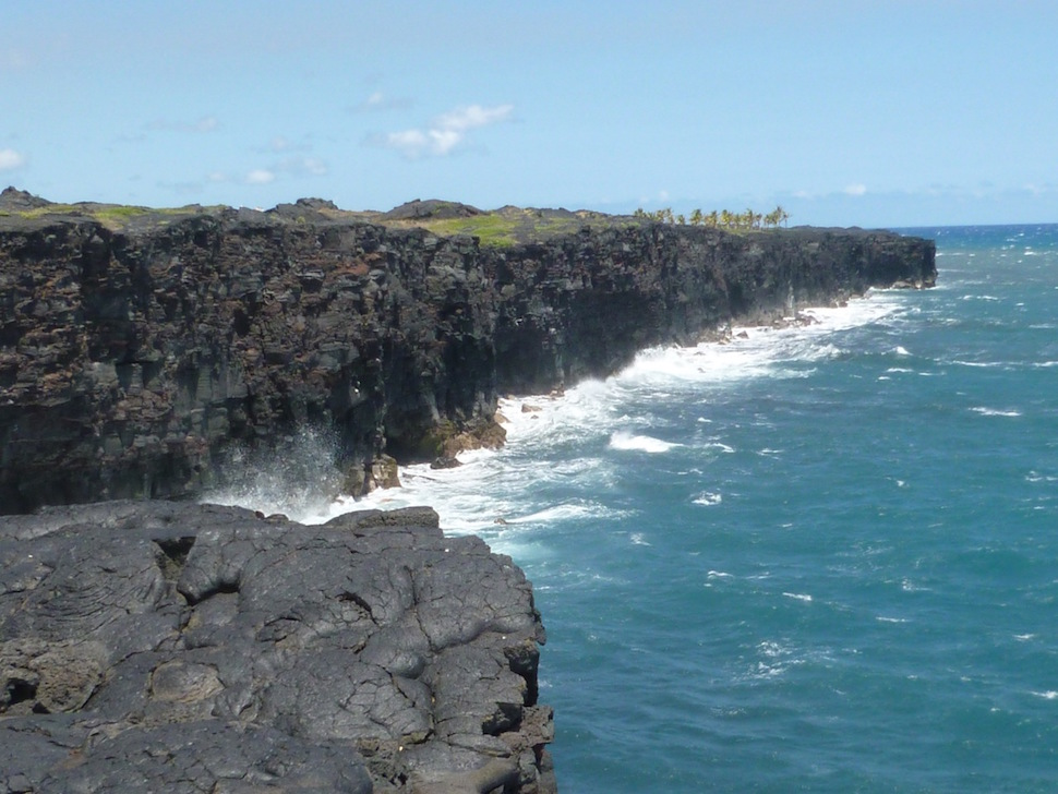 Pacific Coast at the end of Chain of Craters Road