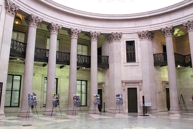 The inside of Federal Hall National Monument