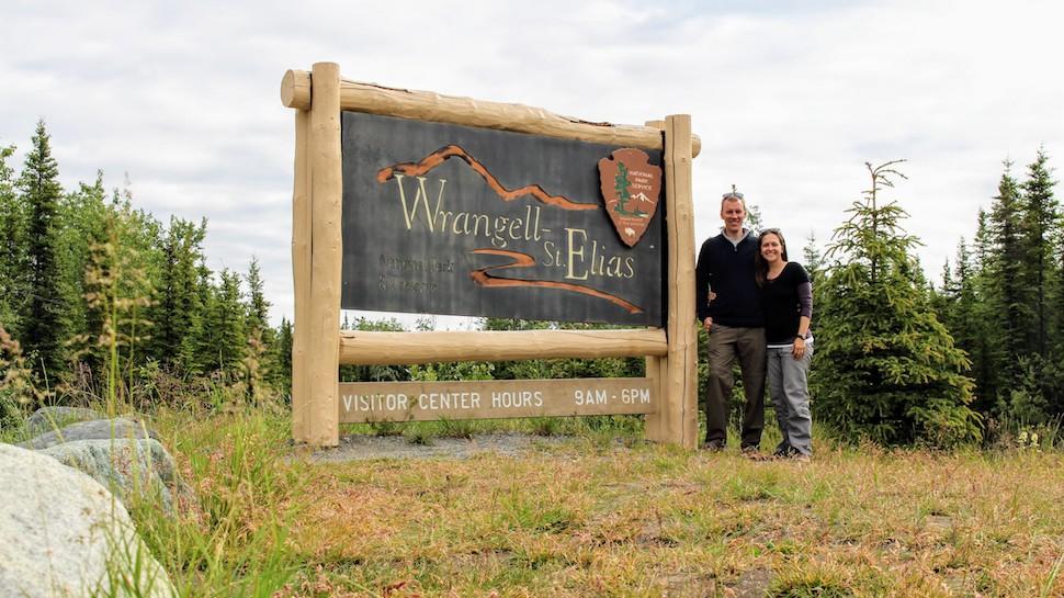 Wrangell-St. Elias National Park Sign