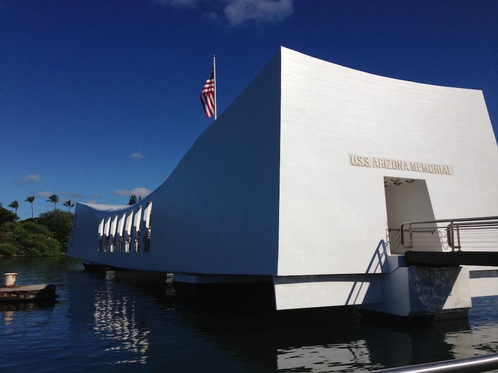 Docking at the USS Arizona Memorial - Pearl Harbor National Memorial