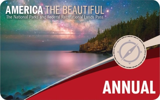 America the Beautiful national park pass - image provided by NPS.gov