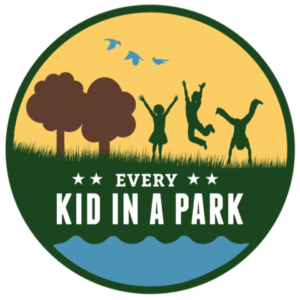 Logo for the national park pass program every kid in a park