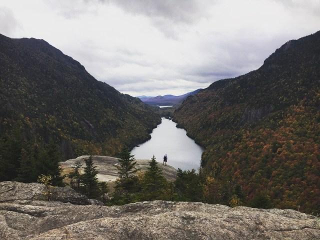 Scenic hike near lake