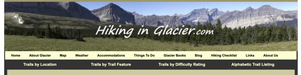Hiking in Glacier.com Header