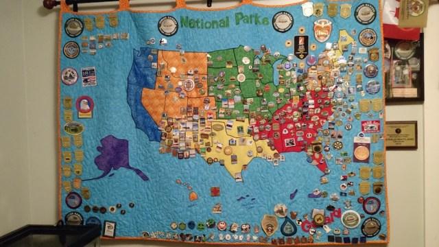 Naitonal Parks Pin Quilt