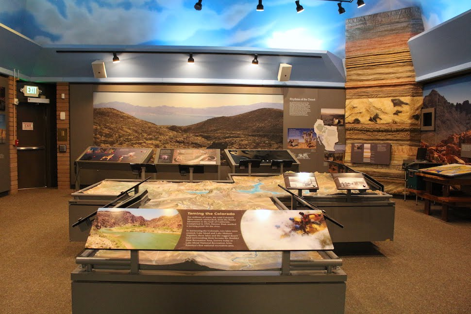 Exhibits in the Alan Bible Visitor Center