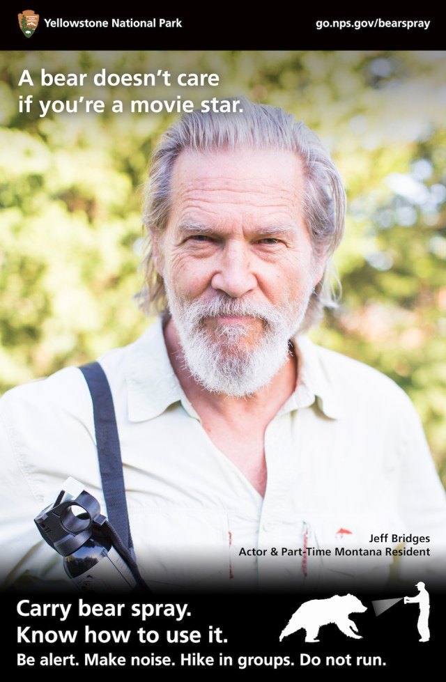 Jeff Bridges National park bear Campaign