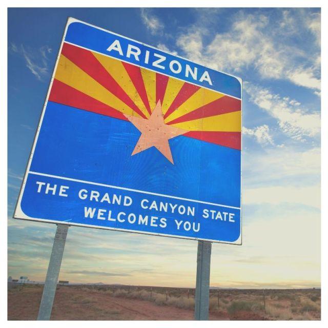 arizona road trip sign