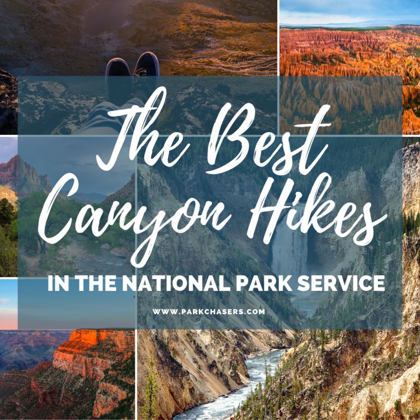 Photo Collage of The Best Canyon Hikes in the National Park Service
