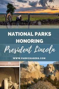 National Parks Honoring President Abraham Lincoln Collage