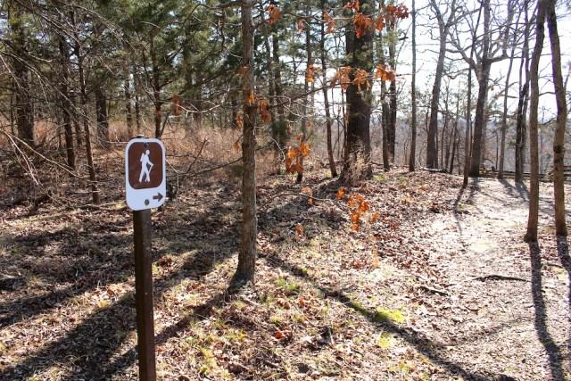 Hiking Trail Sign at Pea Ridge National Military Park