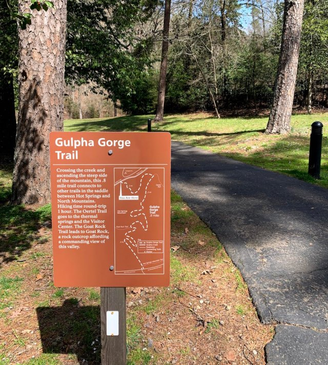 Gulpha Gorge Trail Sign