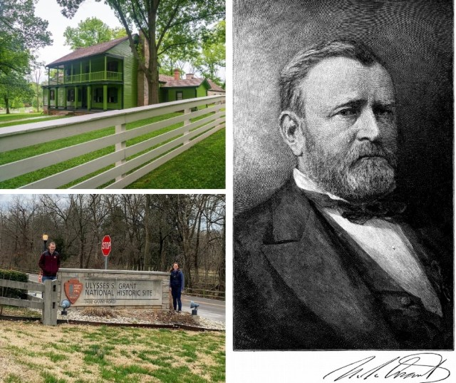 Collage of images from Ulysses S. Grant National Historic Site in St. Louis Missouri