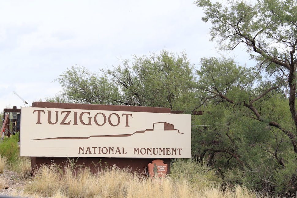 Tuzigoot Park Sign