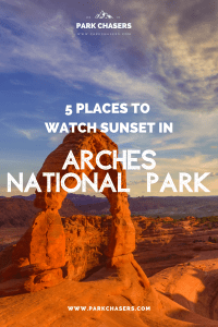 Best Sunset in Arches National Park