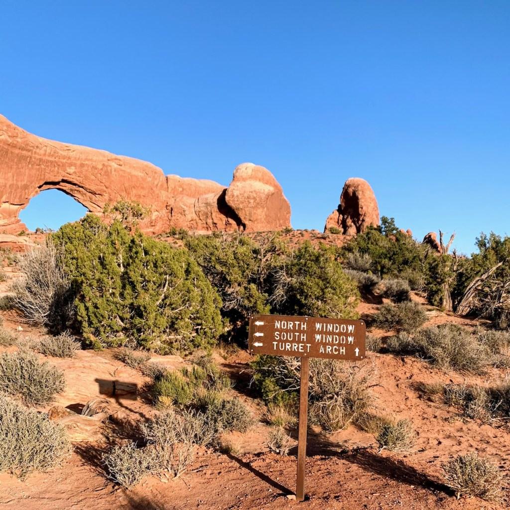 Windows Area Trail Sign