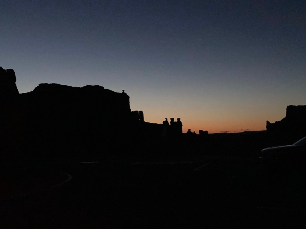 Dusk in Arches National Park