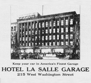 Hotel-Lasalle-Garage, first parking garage