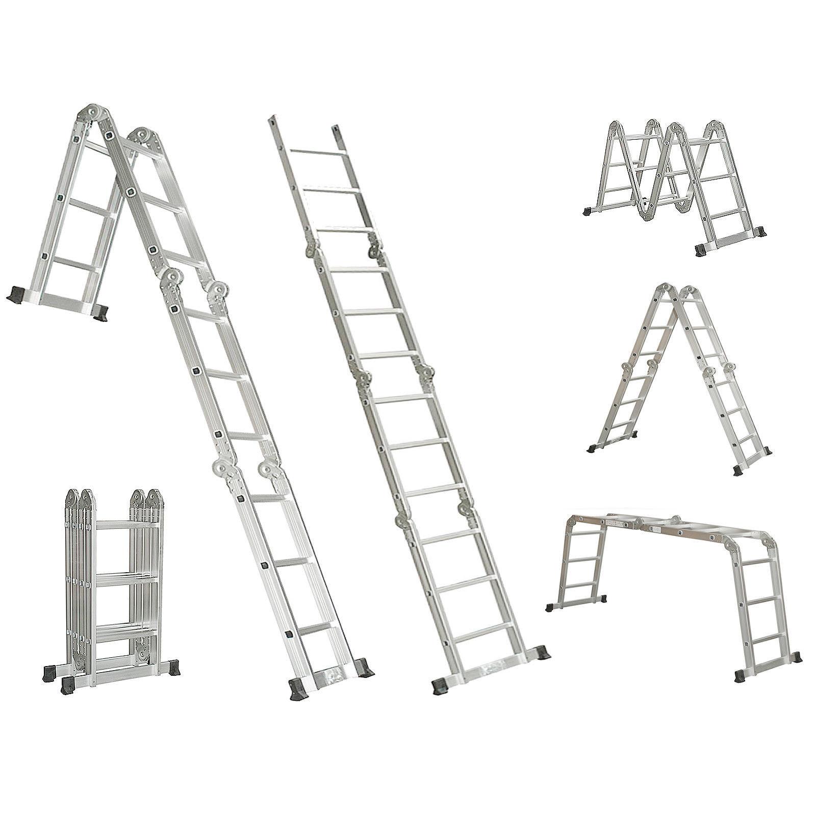 4 7m Aluminium Multi Purpose Extension Ladder Step