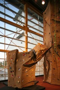 Parker Fieldhouse Climbing Wall Pinnacle wall parker co rec