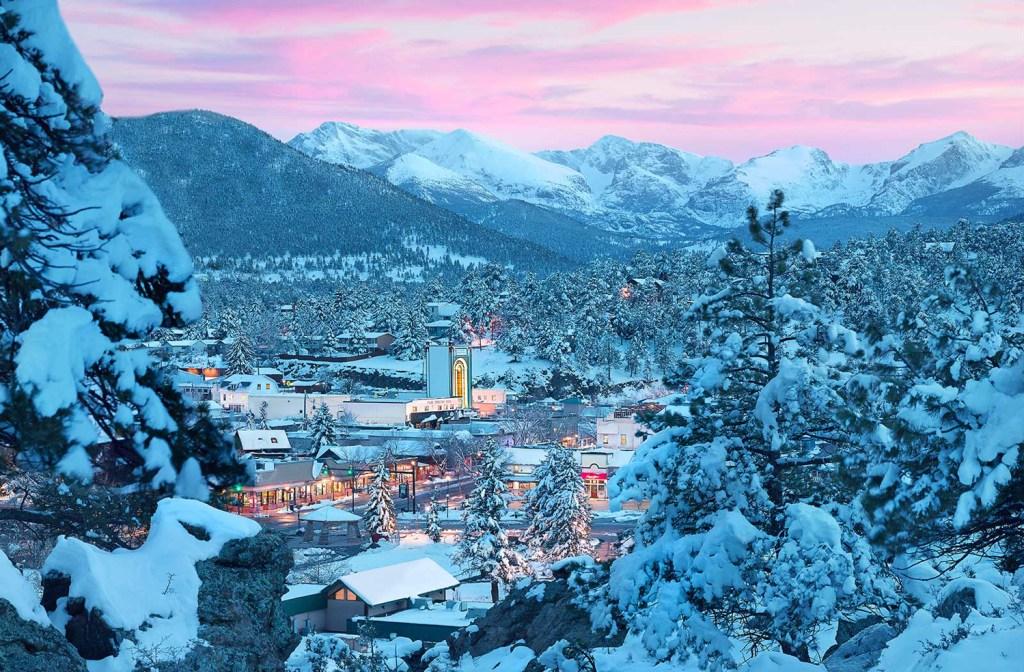 estes park colorado winter wonderland