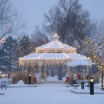 Parker's Gazebo in O'Brien Park at Christmas Photo credit: Facebook