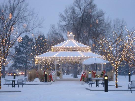 Parker's Gazebo in O'Brien Park at Christmas Holiday Season Photo credit: Facebook