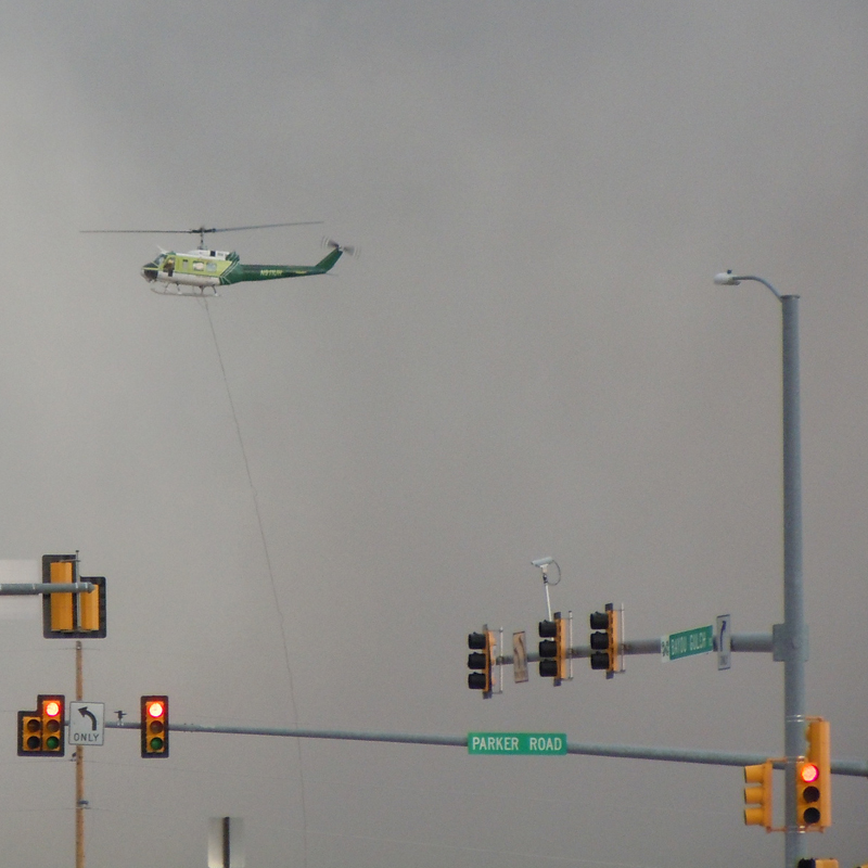 helicopter-hero today at the Franktown Fire near Parker Colorado March 24, 2011
