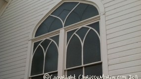 Ruth Chapel window mainstreet town of parker co