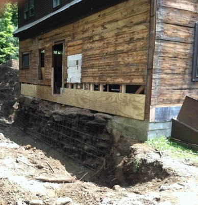 Excavation around foundation