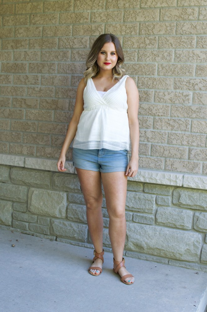 Parker Kate High-Waisted denim shorts by Garage