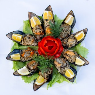 MUSSELS STUFFED WITH RICE