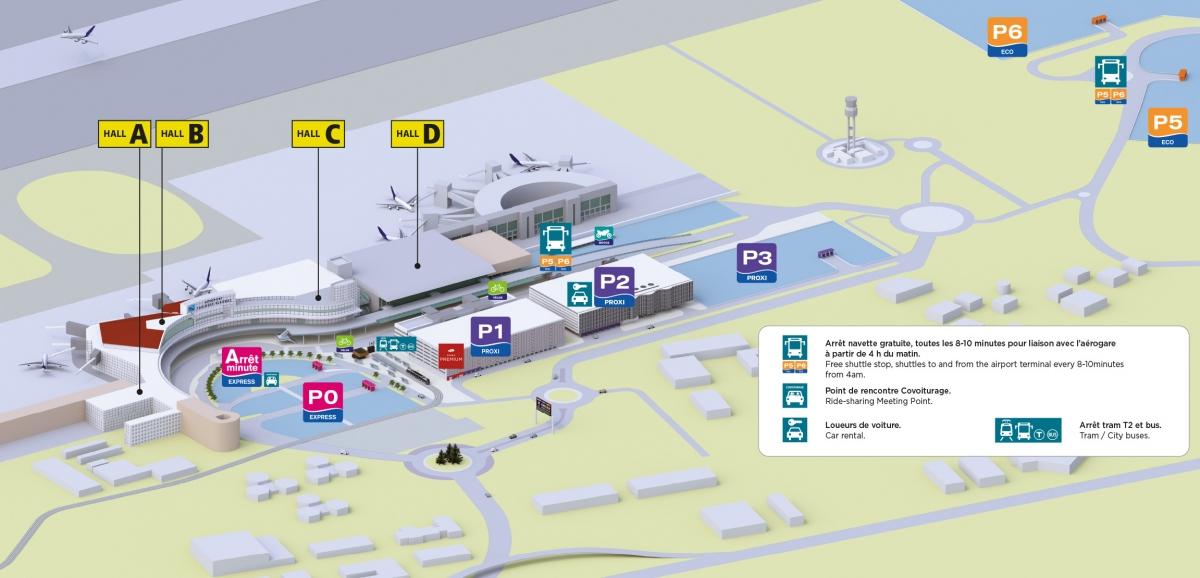 place parking aeroport toulouse