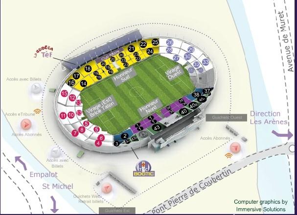 place parking stadium toulouse