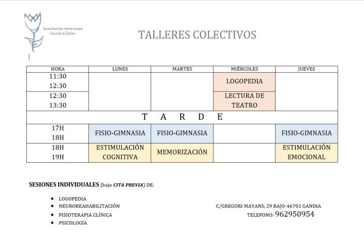 horario talleres apgs color