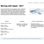 Moving With Apple 2017 Workshop